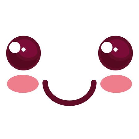 Ontwerp van de het karakter het vectorillustratie van het gezicht het emoticon