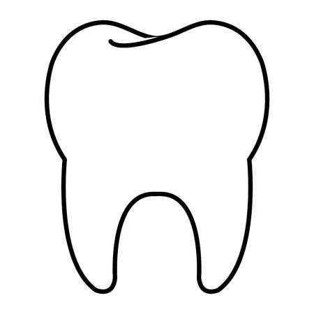 schone tand geïsoleerd pictogram vector illustratie ontwerp