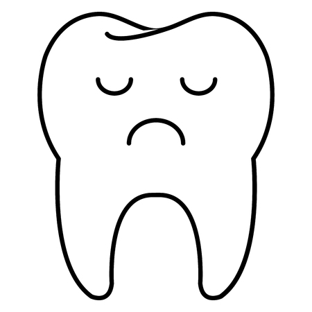 tooth character isolated icon vector illustration design