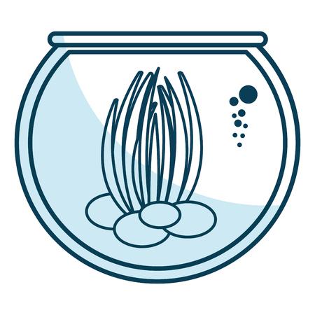 sea weed in aquarium vector illustration design Ilustrace