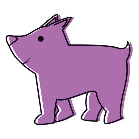 Cute dog mascot icon vector illustration design Illustration