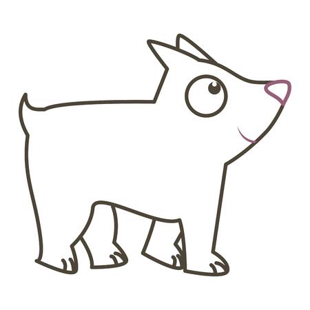 cute dog mascot icon vector illustration design Zdjęcie Seryjne - 84821699