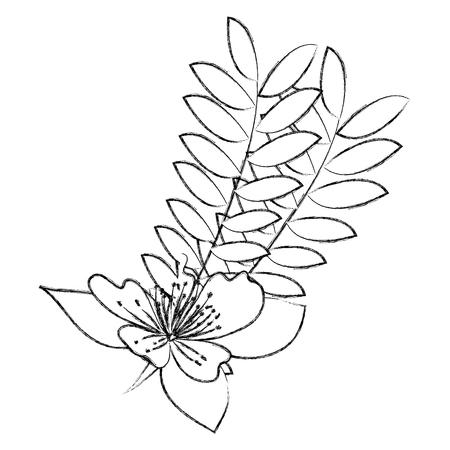 garden flowers decorative icon vector illustration design