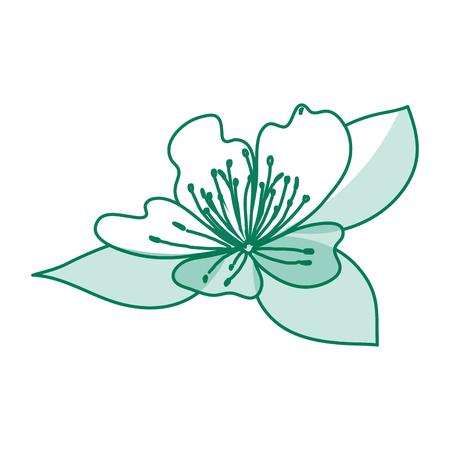 cute flower decorative icon vector illustration design