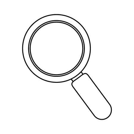 loupe icon over white background vector illustration Çizim