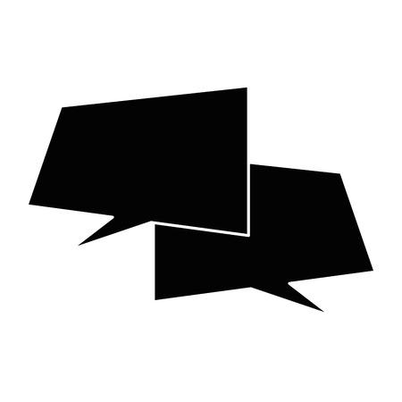 speech bubbles icon over white background vector illustration Illustration