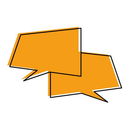 speech bubbles icon over white background vector illustration Ilustração