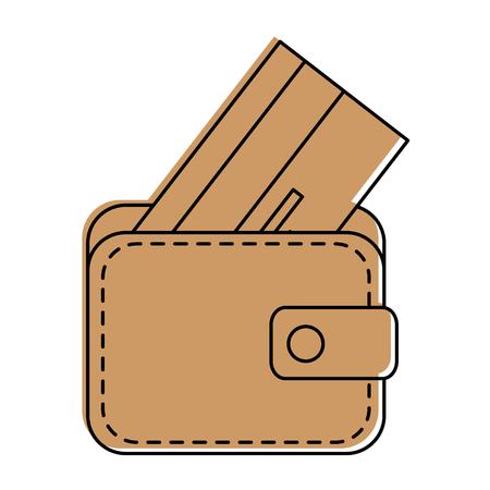 portefeuille pictogram op witte achtergrond vector illustratie