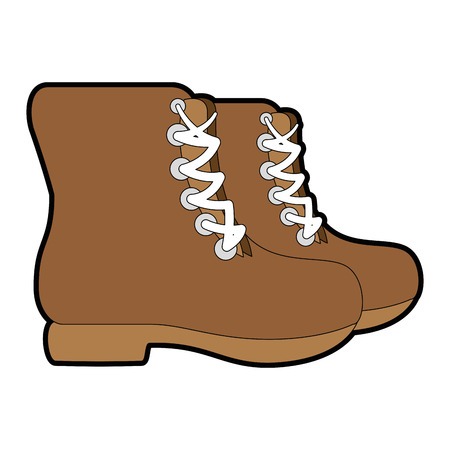 camping boots icon over white background vector illustration Stok Fotoğraf - 84827597
