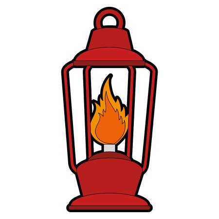 camping lantern icon over white background vector illustration Illusztráció