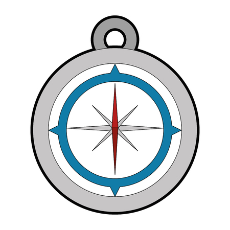 compass icon over white background vector illustration