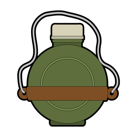 water canteen icon over white background vector illustration