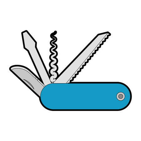 pocket knife icon over white background vector illustration