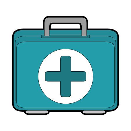 Icona del kit di pronto soccorso su sfondo bianco illustrazione vettoriale Archivio Fotografico - 84827766