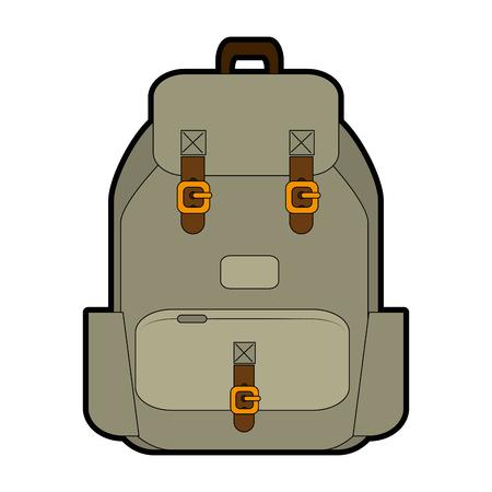 travel backpack icon over white background vector illustration Illusztráció