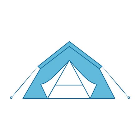 白地カラフルなデザインのベクトル図で避難所テント アイコン