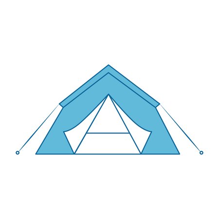 shelter tent icon over white background colorful design vector illustration