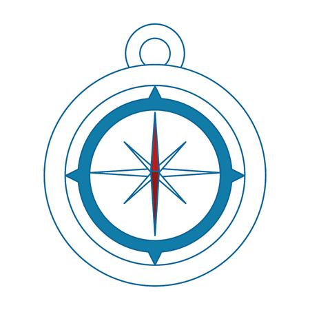 白い背景のベクトル図をコンパスのアイコン