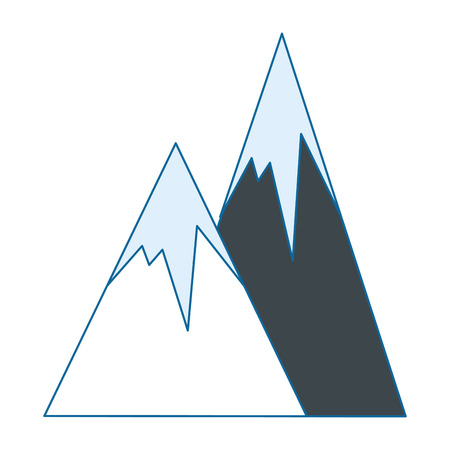 alps icon over white background vector illustration