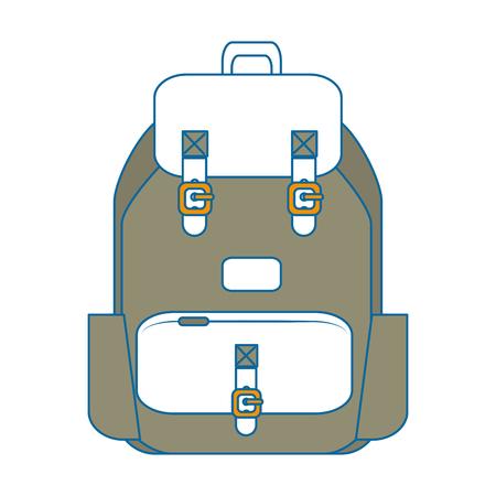 白い背景のベクトル図を旅行のバックパック アイコン  イラスト・ベクター素材