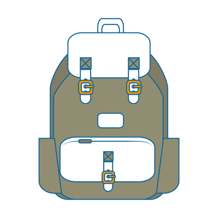 travel backpack icon over white background vector illustration Иллюстрация