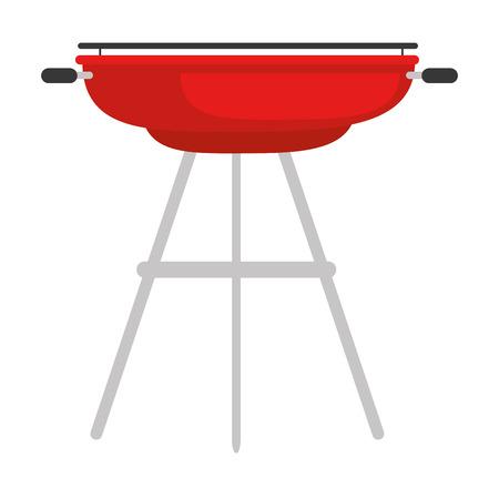 barbecue grill icon over white background vector illustration Ilustrace