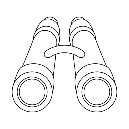binoculars icon over white background vector illustration