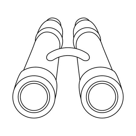 verrekijker pictogram over witte achtergrond vectorillustratie
