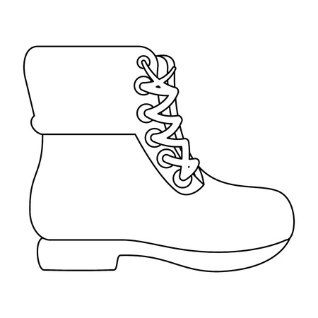 camping boots icon over white background vector illustration 版權商用圖片 - 84887494