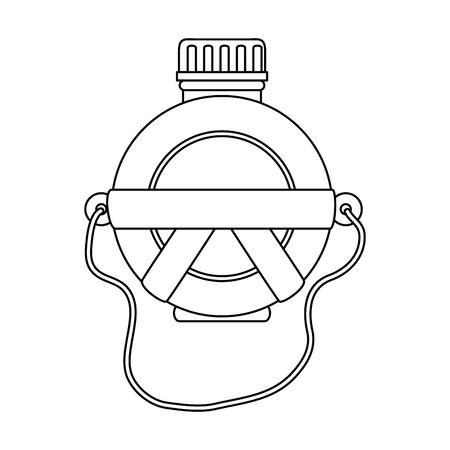 白い背景のベクトル図を水食堂アイコン  イラスト・ベクター素材