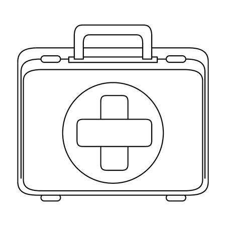 Icona del kit di pronto soccorso su sfondo bianco illustrazione vettoriale Archivio Fotografico - 84887371
