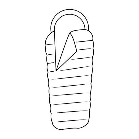 slepping bag icon over white background vector illustration Illustration