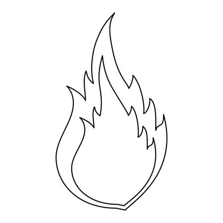 白い背景のベクトル図で火災炎のアイコン