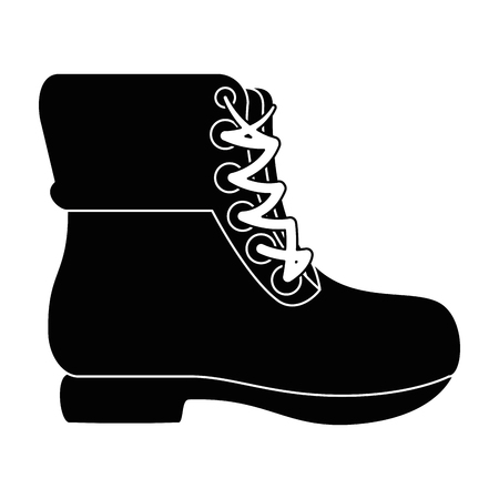 camping boots icon over white background vector illustration