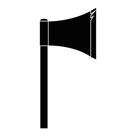 bijl pictogram over witte achtergrond vectorillustratie