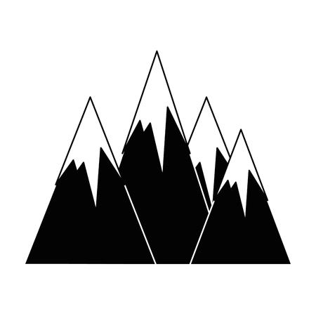 Alpen pictogram over witte achtergrond vectorillustratie Stock Illustratie