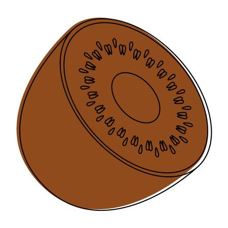 Kiwi fruit icon over white background vector illustration