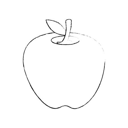 apple fruit icon over white background vector illustration Ilustracja