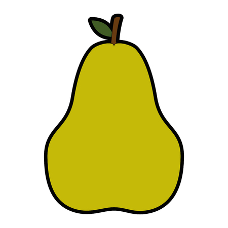 pear fruit icon over white background vector illustration