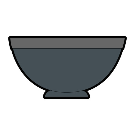 bowl icon over white background vector illustration 向量圖像