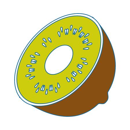 kiwi fruit icon over white background vector illustration 向量圖像