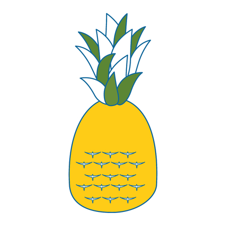 pineapple fruit icon over white background vector illustration