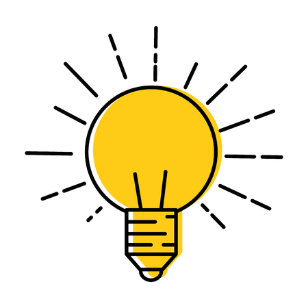 light bulb icon over white background vector illustration Imagens - 84890687