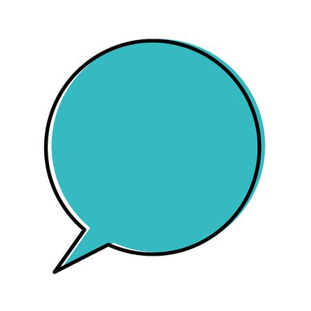 Speech bubble icon over witte achtergrond vector illustratie Stockfoto - 84890688