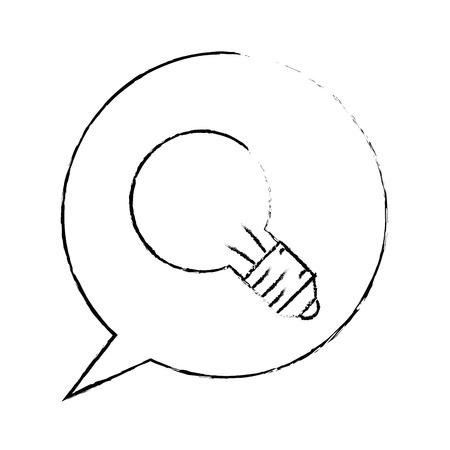 speech bubble icon over white background vector illustration