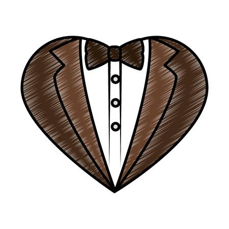 Hochzeit dekorative Symbol Symbol Vektor-Illustration Grafik-Design Standard-Bild - 84891086