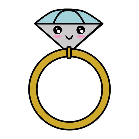 Anneau de mariage isolé mignon vecteur illustration graphique Banque d'images - 84892576