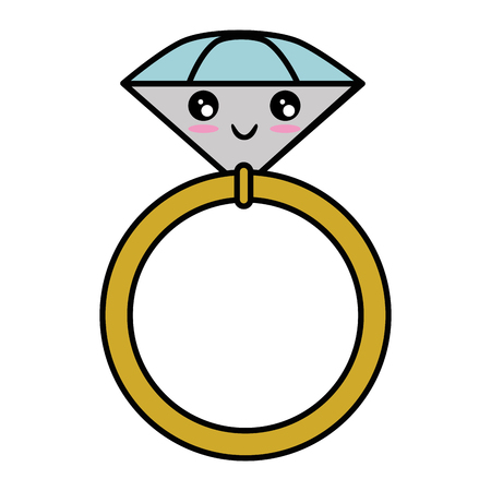 Wedding ring isolated cute cartoon vector illustration  graphic Ilustrace
