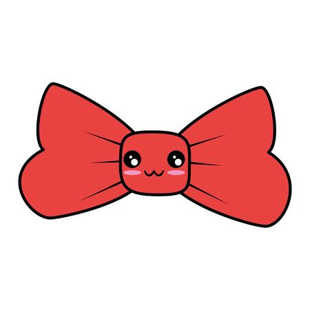 Decorative bow symbol cute cartoon vector illustration  graphic