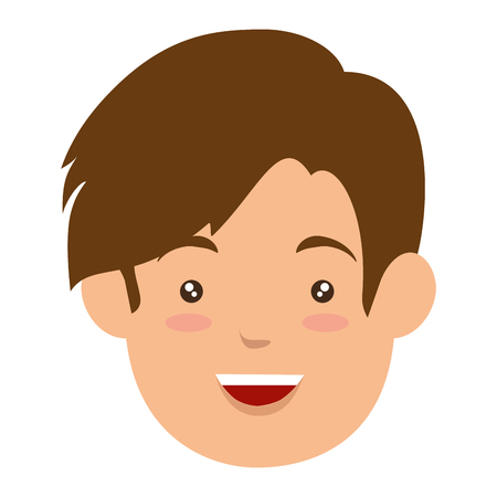 avatar man icon over white background vector illustration